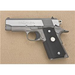 "Colt MK IV Series 80 Lightweight Officer's  Model semi-auto pistol, .45 cal., 3-3/4""  barrel, stainl"