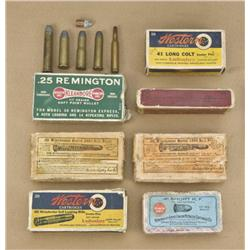 Misc. lot of collector's ammunition  consisting of four rounds of .45-75 for  Winchester 1876, three