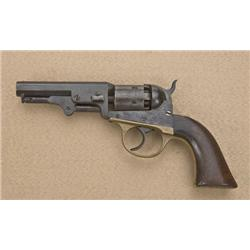 "J.M. Cooper Pocket Model DA percussion   revolver, .31 cal., 4"" octagon barrel, blue  finish, wood g"