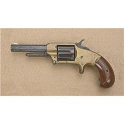 "Whitney breechloading spur trigger revolver,  .32 cal., 3-1/2"" octagon barrel, blue finish,  brass f"