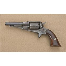 "Remington New Model Pocket percussion  revolver, .31 cal., 3-1/2"" octagon barrel,  blue finish, wood"