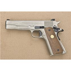 "Colt MK IV Series 70 Government Model  semi-auto pistol, .45 cal., 5"" barrel, satin  finish stainles"