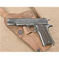 Colt model 1911A1, U.S. military issue,  .45ACP caliber, semi-automatic pistol, serial  #1738576. Th