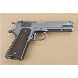 Colt Ace .22 caliber semi-automatic pistol,  blue finish, checkered wood grips, serial  #1114, manuf