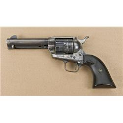 "Colt Single Action Army revolver, .45  caliber, 4-3/4"" barrel, blue and case  hardened finish, hard-"