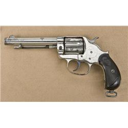 1878 Colt Revolver http://www.icollector.com/Colt-model-1878-double-action-frontier-revolver-44-40-caliber-5-1-2-etched-barrel-nickel-plat_i10488982