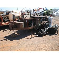Trailer Mounted Roofing Tar Kettle New Pump Engine
