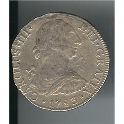 1783 Early US Colonial Silver Dollar- 8 Reales