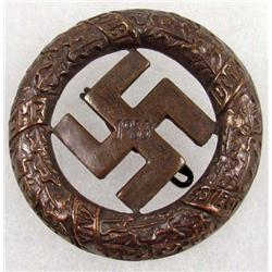 WW2 GERMAN NAZI GAU MUNCHEN BLOOD ORDER BADGE W/ THIN VERTICAL PINBACK