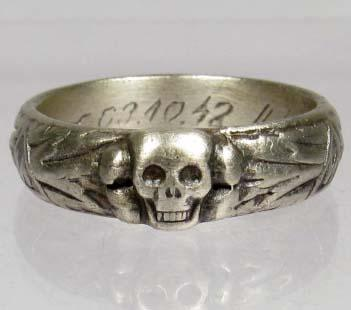 Nazi Ss Ring Authentic For Sale