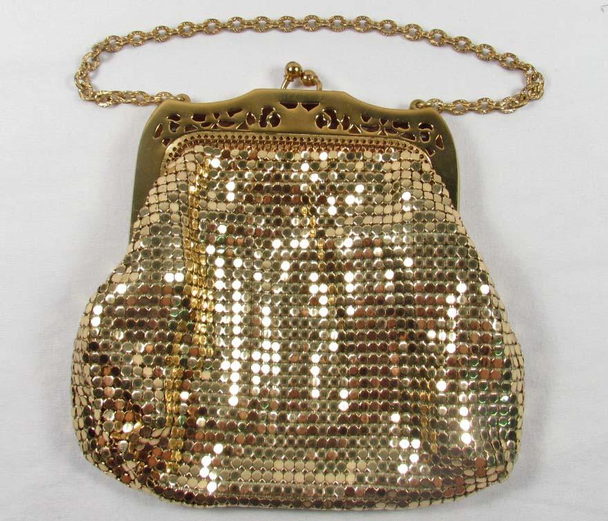 Vintage Whiting And Davis Gold Mesh Purse W Lining Loading Zoom