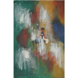 John F. Leonard, American Jumpsuit in Abstract, Oil Painting