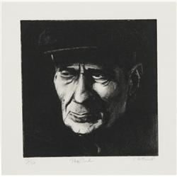 Harry McCormick, The Turk, Aquatint Etching