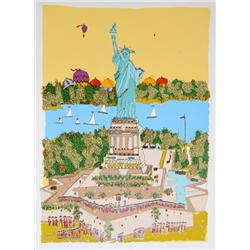 Susan Pear Meisel, Statue of Liberty, Screenprint