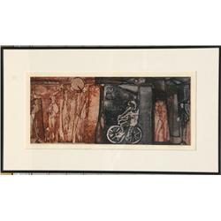 Agnes Mills, Street Remembered, Aquatint Etching