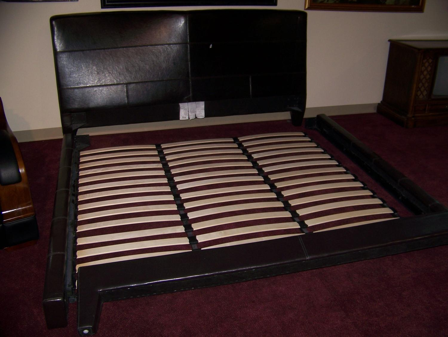 image 2 king size leather headboard frame