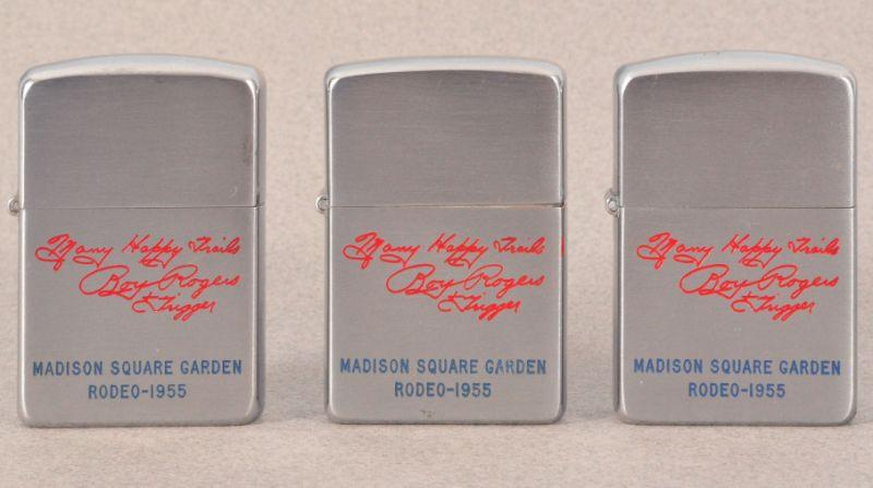 World Map Zippo Lighter. Three 1955 Roy Rogers Rodeo Zippo Lighters RR  Loading zoom