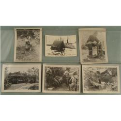 WWII PERSONAL PHOTOS OF U.S. GIS IN WAR ZONES W/ GUNS