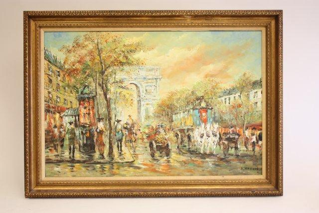 Gilt framed oil painting signed A. Rabous
