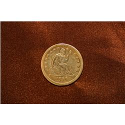 1856 Seated Liberty 25 cent Coin