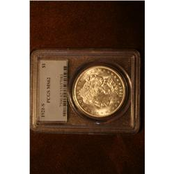 1921-S Morgan Silver Dollar Slabbed