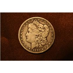 1891 Carson City Morgan Silver Dollar