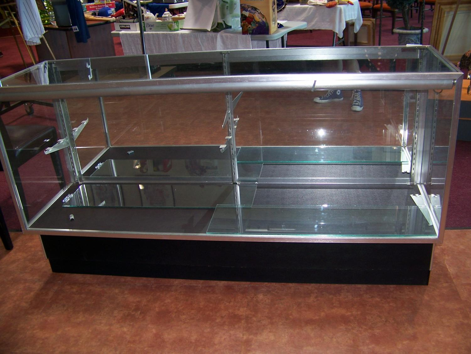 retail glass display case large. Black Bedroom Furniture Sets. Home Design Ideas