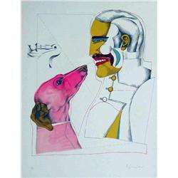 Richard Lindner, Mans Best Friend, Signed Litho