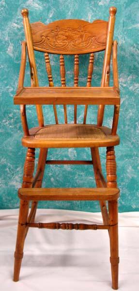 image 1 vintage all wood childs high chair must pick up antique high chairs wooden