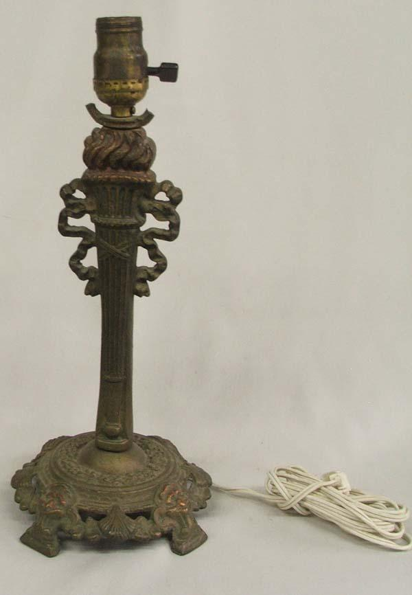 Vintage Cast Iron Table Lamp