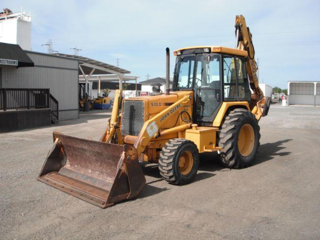 1991 John Deere 510d 4x4 Loader Backhoe