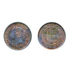 1859, Wide 9/8. PCGS graded Mint State-63. Red-Brown. 30% red luster. Another example of a 'key' dat