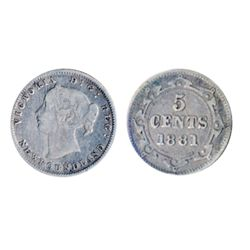 1872-H. ICCS Fine-12. Heavy toning; 1881. ICCS Fine-15. Medium toning. Lot of two (2) coins.