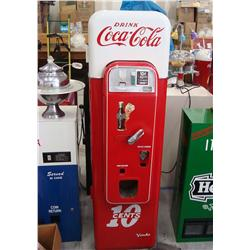 Restored 1950's Coca-Cola 10 Cent Coke Vendo 44 Machine