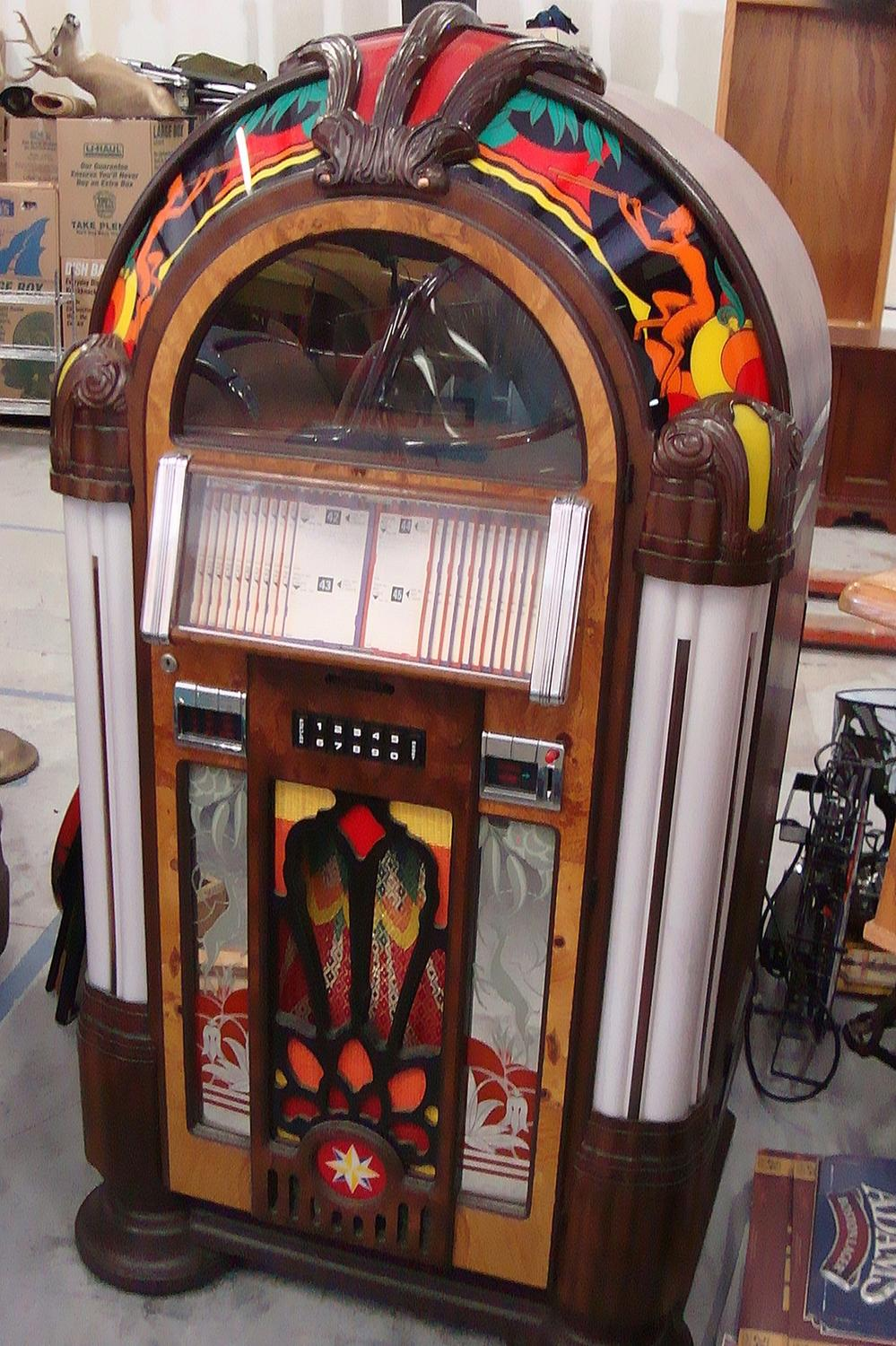 antique apparatus wurlitzer reproduction victory gazelle jukebox. Black Bedroom Furniture Sets. Home Design Ideas