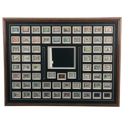 50th Anniversary Collection of Federal Duck Stamps in Display Frame