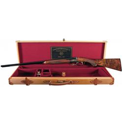 Engraved Connecticut Shotgun Manufacturing RBL Side by Side 28 Gauge Box Lock Shotgun with Case and