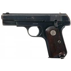 Rare Shanghai Police Shipped Colt Model 1908 Semi-Automatic Pistol with Factory Letter