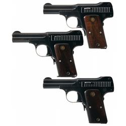 Collector's Lot of Three Smith & Wesson 35 Caliber Pistols
