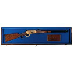 Cased Engraved Winchester Model 94 Limited Edition II Commemorative Lever Action Carbine