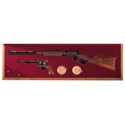 Cased Winchester/Colt Commemorative Rifle/Revolver Set