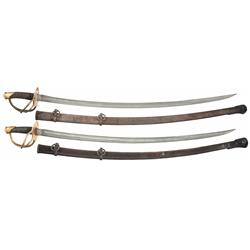 Very Fine U.S. Justice Model 1840 Heavy Cavalry Saber with Scabbard and U.S. Civil War Scheble & Fis