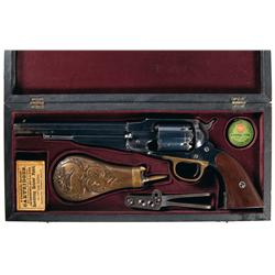 Excellent Remington New Model Army Percussion Revolver with Accessories and Custom Case