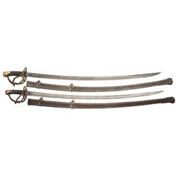 Two 1840 Pattern Heavy Cavalry Sabers