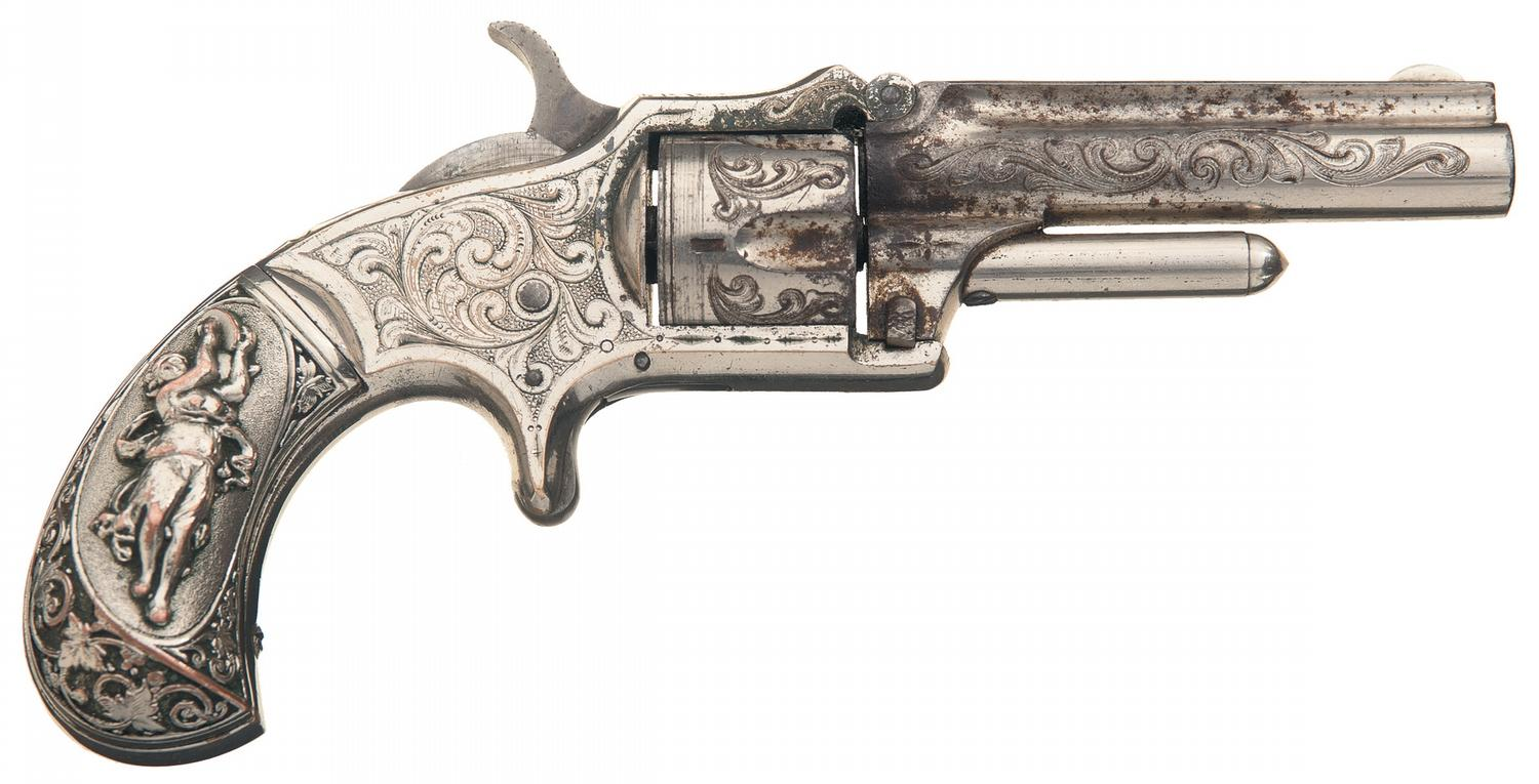 scarce factory engraved marlin no 32 standard 1875 pocket revolver with wexell and degress patent g. Black Bedroom Furniture Sets. Home Design Ideas