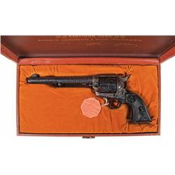 Factory Engraved Third Generation Colt Single Action Army Revolver with Case