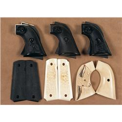 Six Sets of Grips for Colt Single Action Revolver and Semi-Automatic Pistol