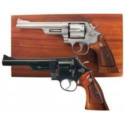 Two Smith & Wesson Revolvers