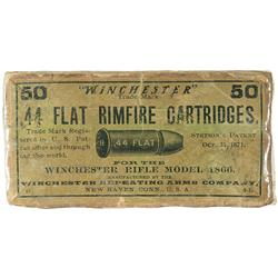 Scarce Box of Winchester 44 Flat Rimfire Henry Rifle Ammunition