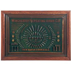 Extremely Rare Winchester 1884 Cartridge Display Board